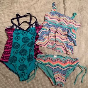 Two girls swimsuits